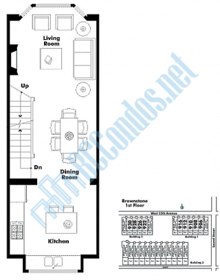 Brownstone 930 13th ave vancouver for Typical brownstone floor plan