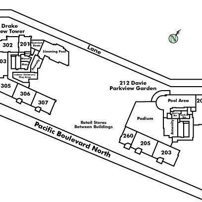 Parkview Tower Area Map