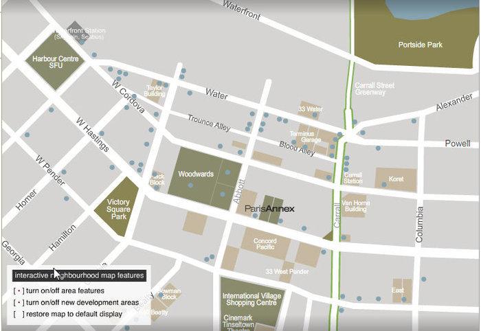 The Paris Block Area Map