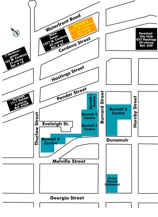 Fairmont Pacific Rim Area Map