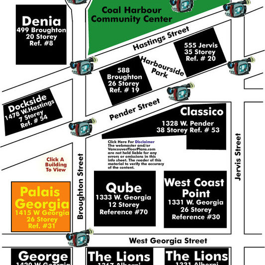 Palais Georgia Area Map