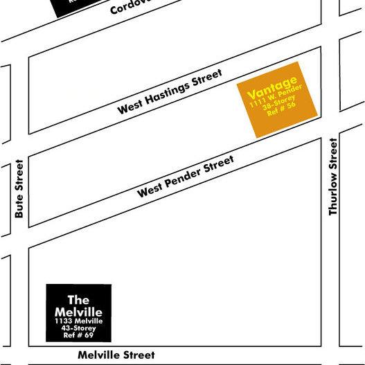 The Vantage Area Map