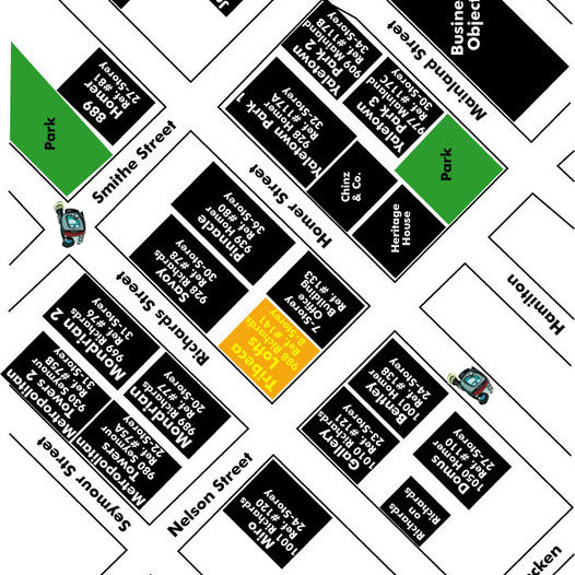 Tribeca Lofts Area Map