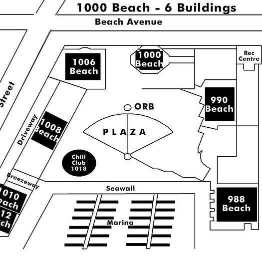 1000 Beach Area Map