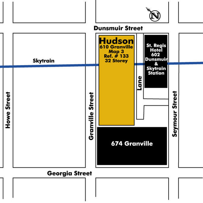 The Hudson Annex Area Map