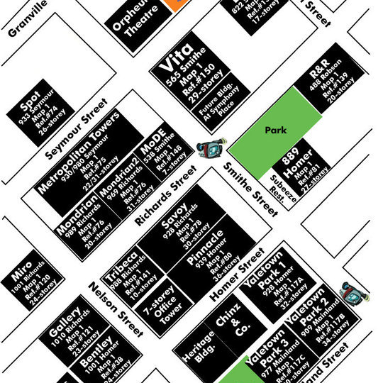 Capitol Residences Area Map