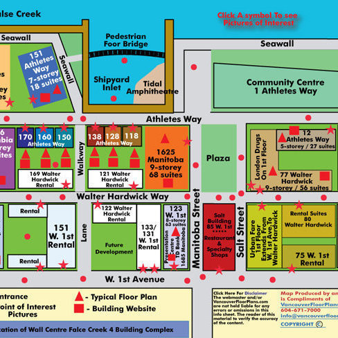 Village on False Creek - 160 Athletes Area Map