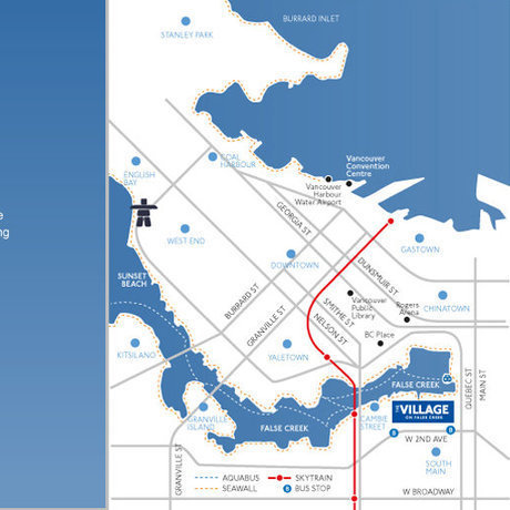 Village On False Creek - 150 Athletes Area Map