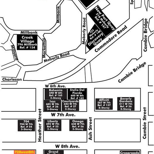 700 West 8th Area Map