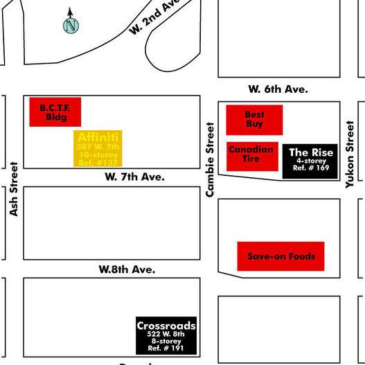 Affiniti Area Map