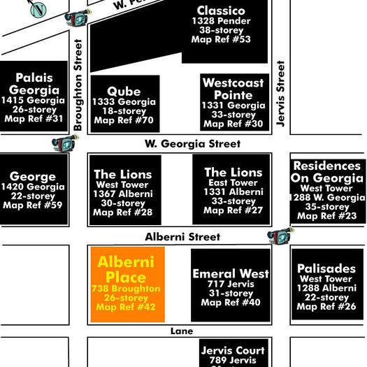 Alberni Place Area Map