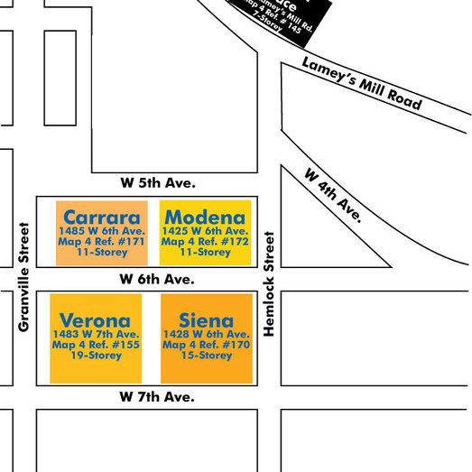 Verona Of Portico Area Map