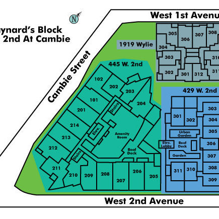 The Maynards Block Area Map