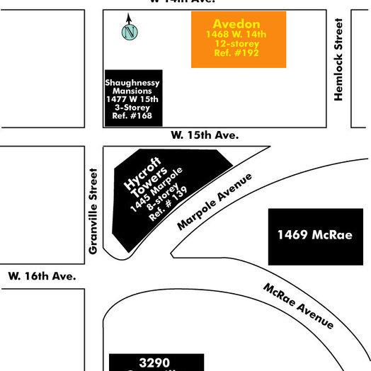 Avedon Area Map
