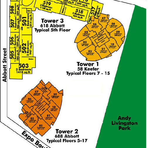 Firenze Tower I Area Map