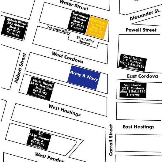 Garage Area Map