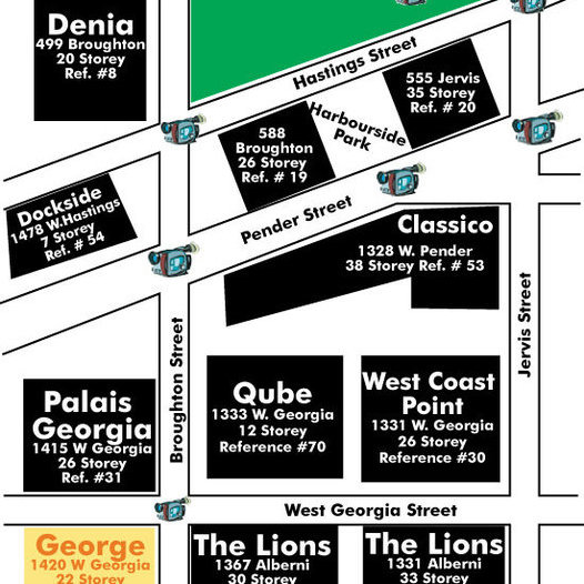 George - The Condominiums Area Map