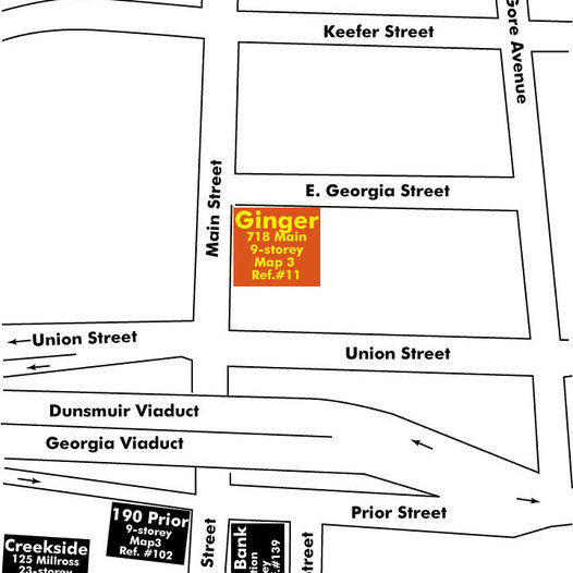 Ginger Area Map