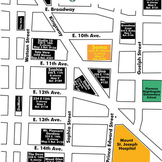 Soma Lofts Area Map