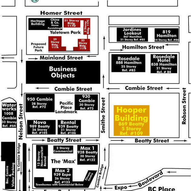 The Hooper Building Area Map
