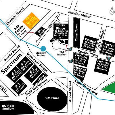 Metroliving Area Map