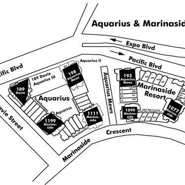 Marinaside Resort Area Map