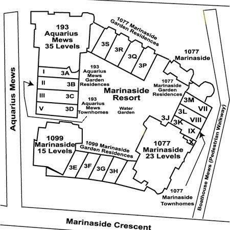 Marinaside Resort Residences Area Map