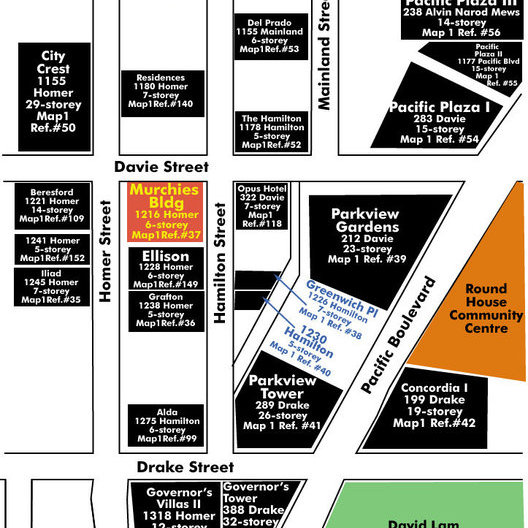 Murchies Building Area Map