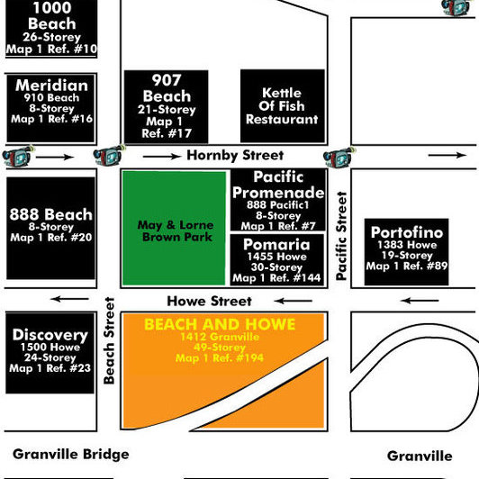 Vancouver House Area Map