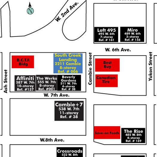 South Creek Landing Condos Area Map