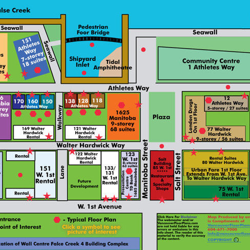 Canada House West Area Map