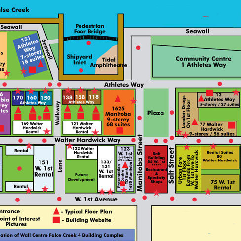 Canada House East Area Map