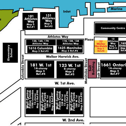 Kayak - Village On False Creek Area Map