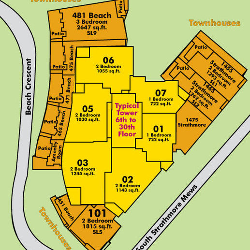 Park West 1 Area Map