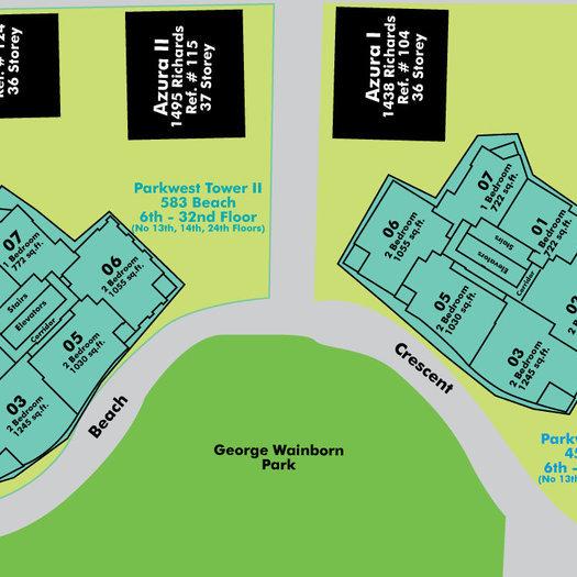 Park West 2 Area Map