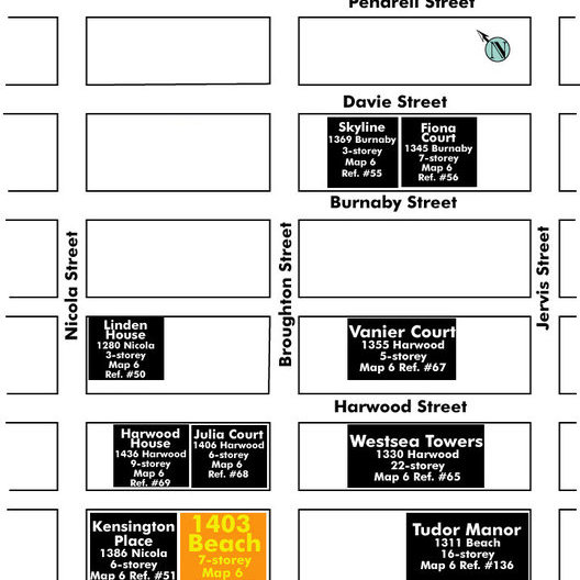 1403 Beach Area Map