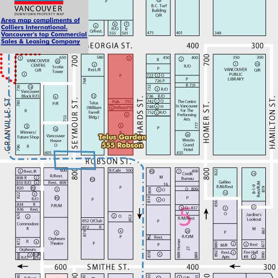 Telus Garden Area Map