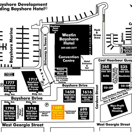 Bayshore Tower Area Map