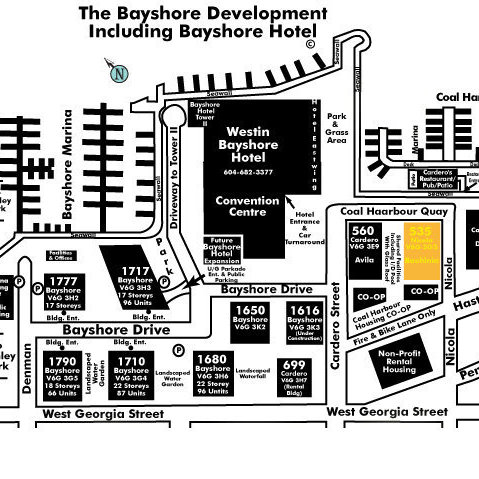 Bauhinia Area Map