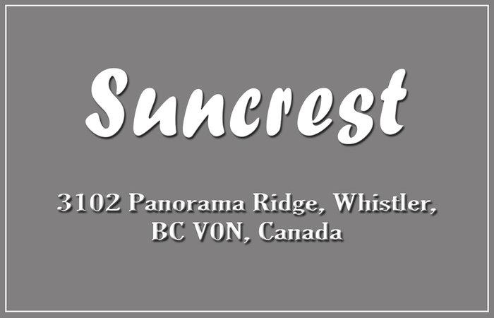 Suncrest 3102 Panorama Road Whistler Bccondos