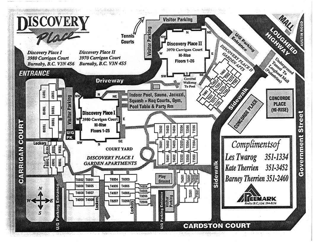 Discovery Place I Area Map
