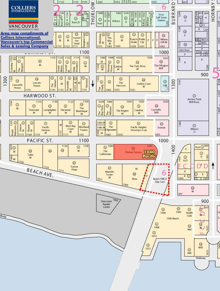 Chelsea Terrace Area Map