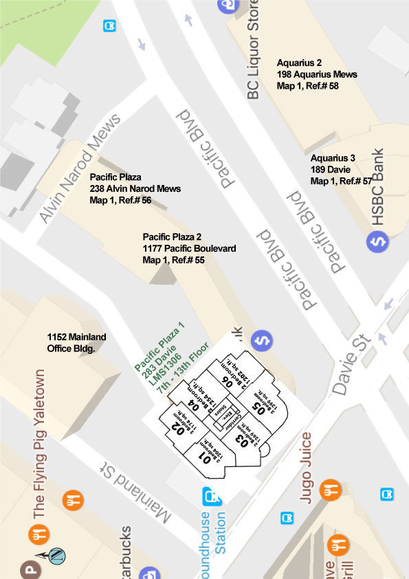 Pacific Plaza Area Map