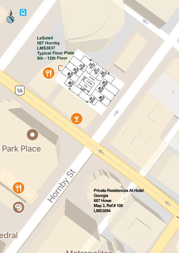 Le Soleil Area Map