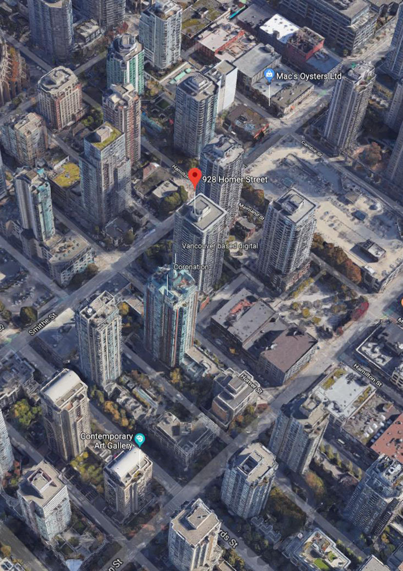 Yaletown Park 1 Area Map