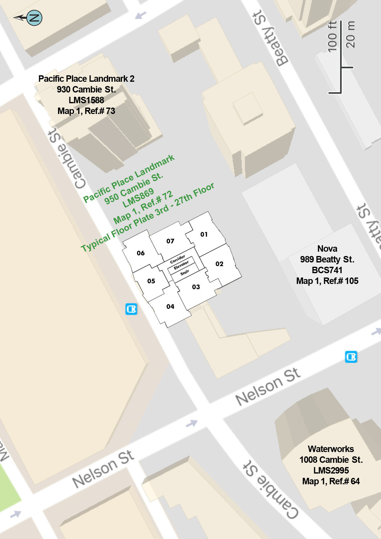 Pacific Place Landmark 1 Area Map