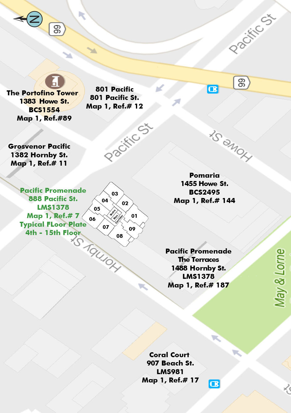 Pacific Promenade Area Map