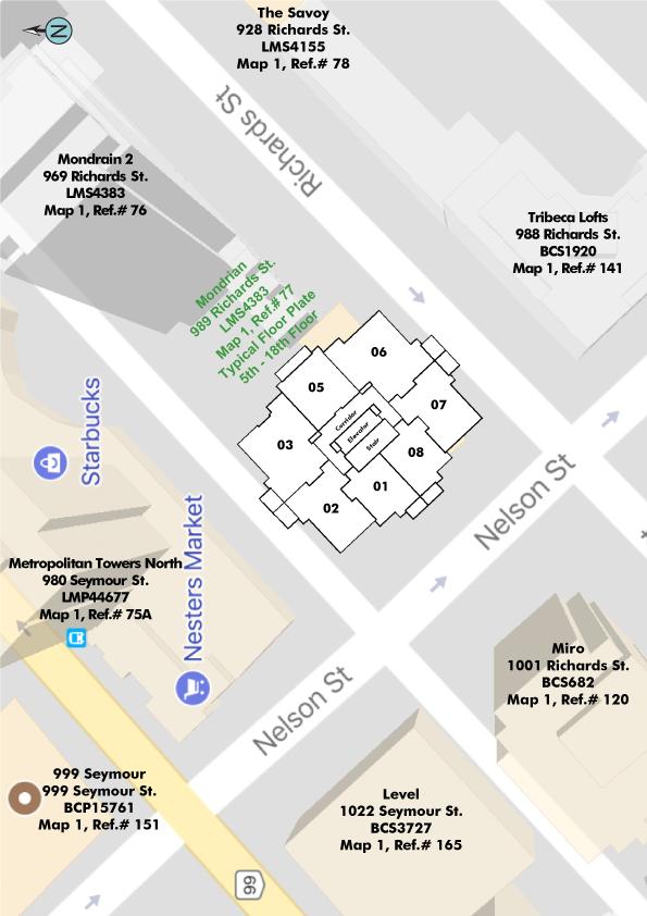 Mondrian Area Map