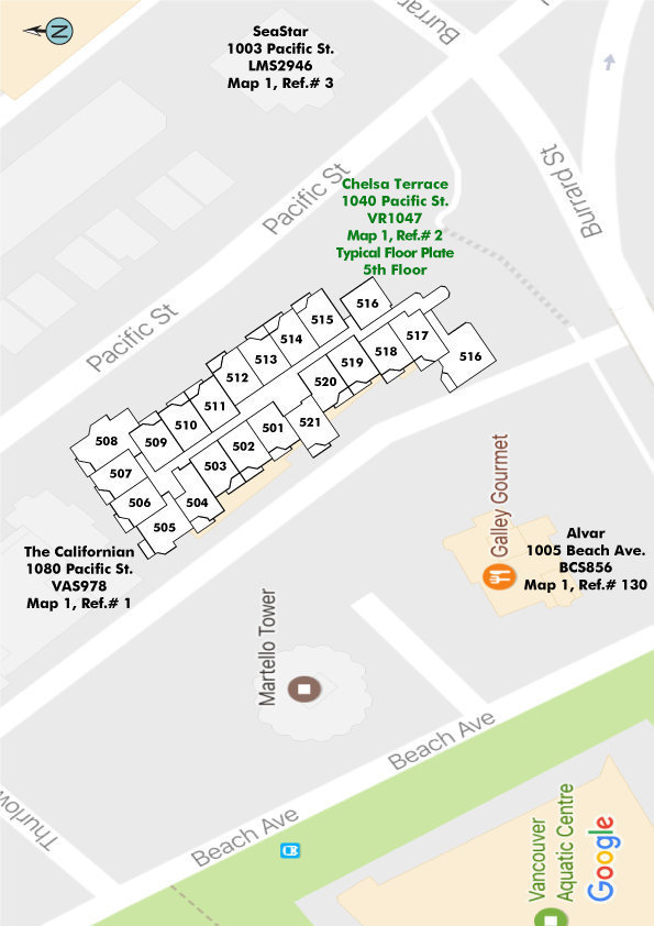 Chelsea Terrace Area Map