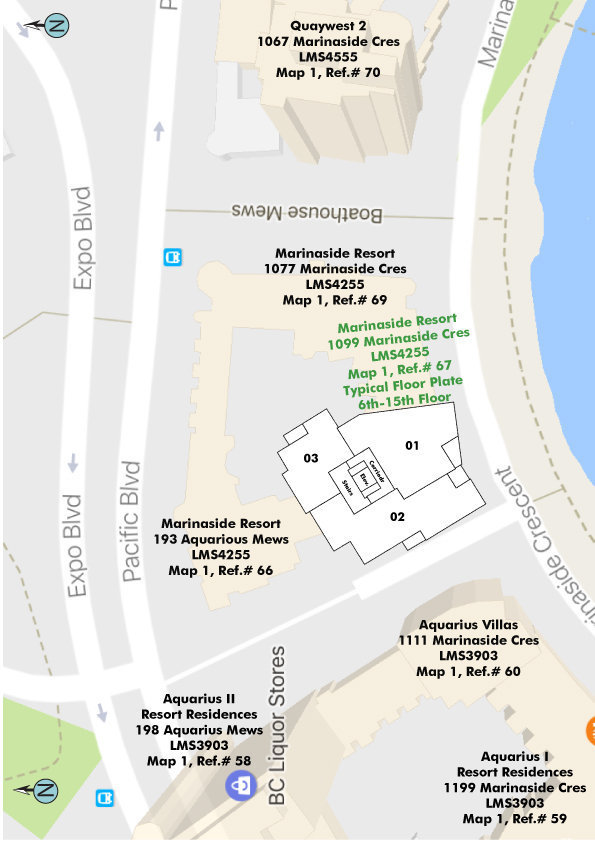 Marinaside Resort Residences Area Map